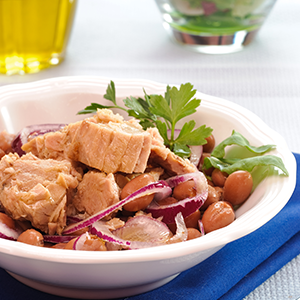 Borlottibonen salade met tonijn